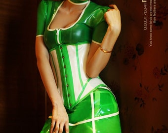 664d9556b28 Circus Full Set Women Rubber Latex Catsuit with Neck Collar