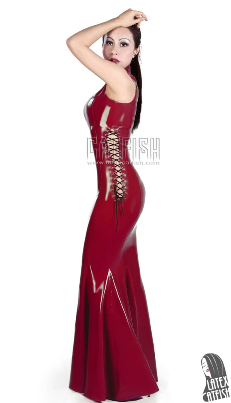 7d8dde1a0f Moda Lady długa lateksowa sukienka