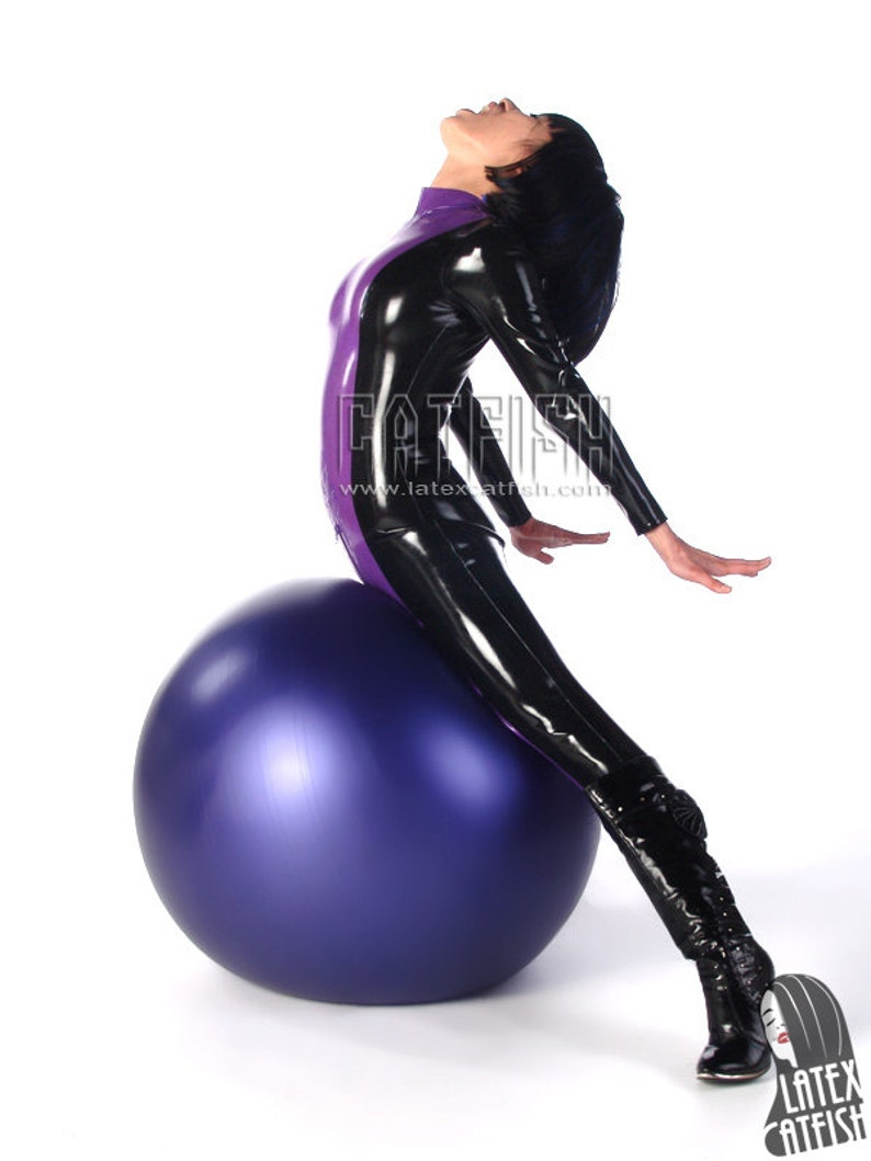 Kung Fu Girl in Latex Catsuit Latex Clothing   Etsy