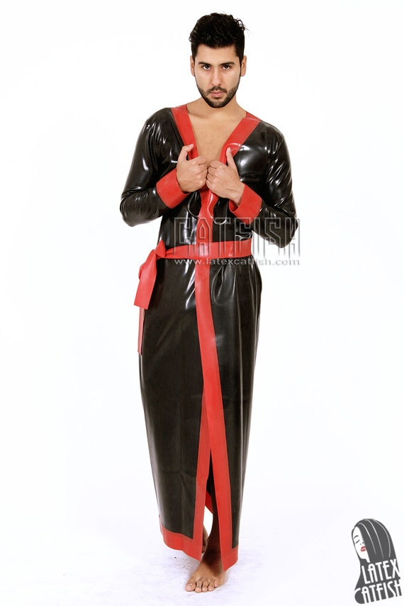 f6c1deea16e Men sexy rubber latex ming robe etsy jpg 570x855 Robe latex
