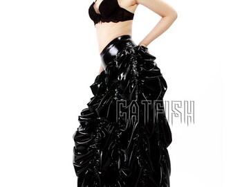 Sexy Lady Latex Skirt, Women Rubber Skirt