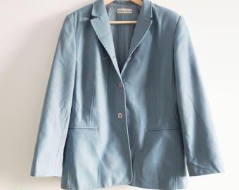 80s vintage oversized baby blue blazer - size m - vintage