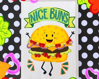 Nice Buns Wooden Sign