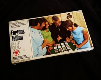 1960's Cartomancy fortune telling card deck set from West Germany