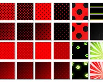 021 LADYBUG inspired digital paper pack for scrapbooking, albums, cards and crafts