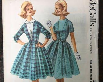 1960s McCall's Dress Pattern # 5482