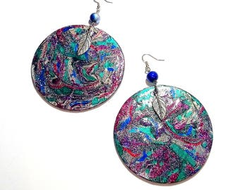 Beautiful Earth Handmade Hand-painted Wood Earrings