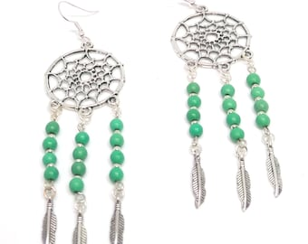 Magnesite Dream Catcher Earrings
