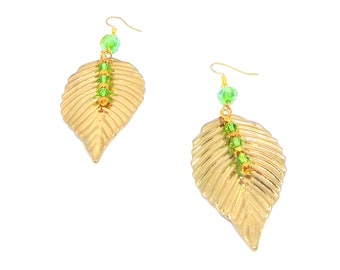 Gold of Cairo Leaf Dangles