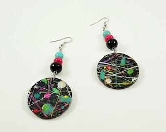 Alternate Universe Handpainted Handmade Earrings