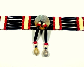 Traditional Native 4 row Choker