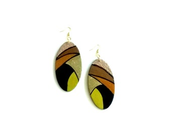 Exotic Diva: Hand painted earrings
