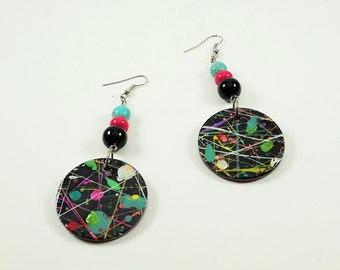 Alternate Universe Handpainted Handmade Earrings