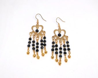 Heart Fringed Earrings