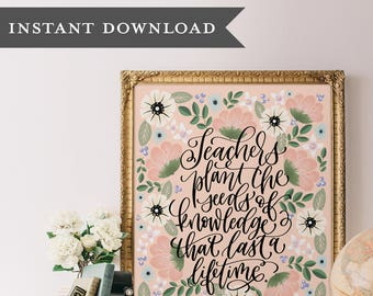 image relating to Printable Wisdom titled Hand lettered house decor and items by way of PrintableWisdom upon Etsy