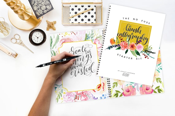 Brush Calligraphy Starter Kit Printable Wisdom Learn No Fuss Etsy