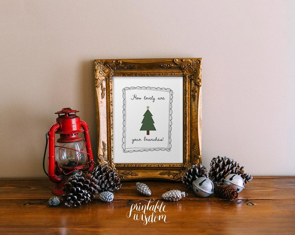 Christmas printable wall art oh christmas tree holiday decor | Etsy