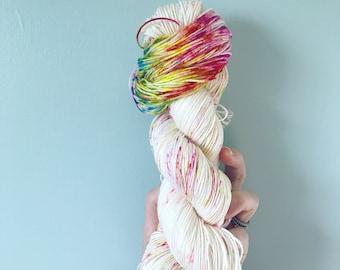 Unicorn Party Rainbow Speckled Sock Yarn