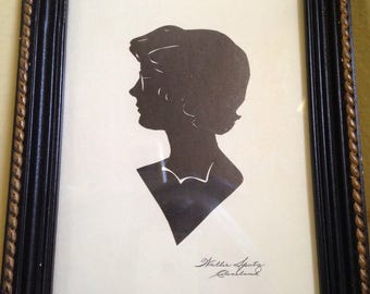 1940s Wallie Spatz woman silhouette
