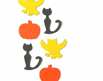 100 Halloween Punches, Halloween Table Decor,Owl Punches,Black Cats Punches,Pumpkin Punches,Halloween party decorations,Halloween Confetti