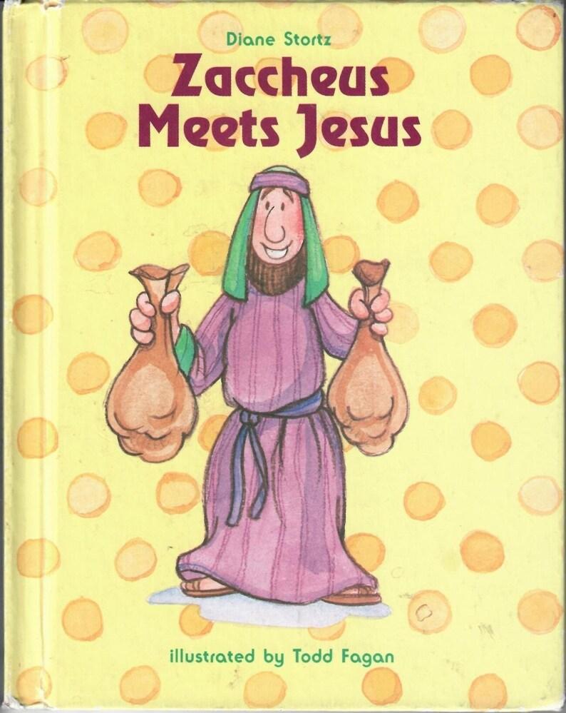 Vintage Libro Zaqueo Conoce A Jesus Por Diane Stortz Feliz Etsy
