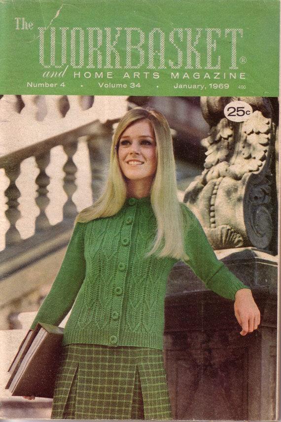 Vintage Workbasket Magazine January 1969 400 Knit Crochet Etsy
