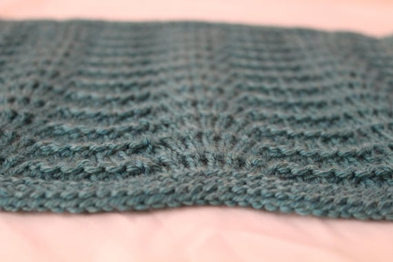 Lace Waves Knit Throw Blanket Pattern Lace Knit Square Etsy