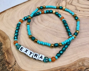 Beaded Stretch Bracelet Set: Extra