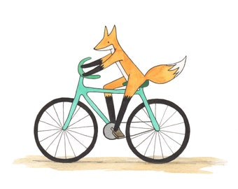 5x7 Art Print - Fox on the Go