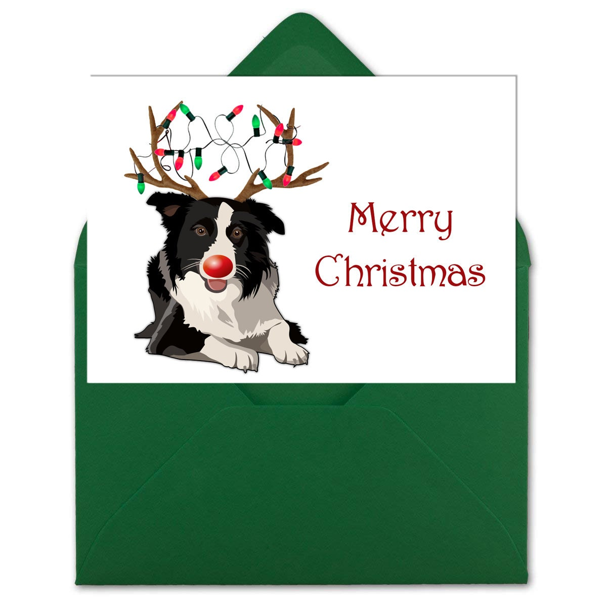 Border Collie Christmas Cards Four Designs Instant | Etsy
