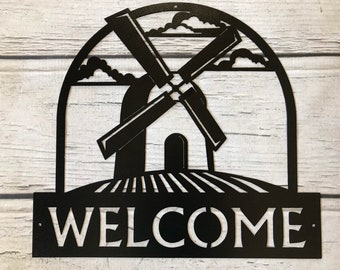 SWEN Products DUTCH KIDS BOY /& GIRL Black Metal Welcome Sign