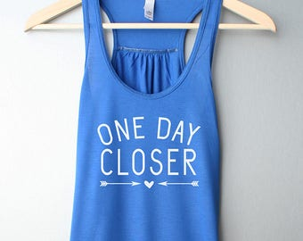 3126ae020 One Day Closer Tank top, Deployment Countdown Shirt, Military Wife, Fiance,  Girlfriend, Military love tank