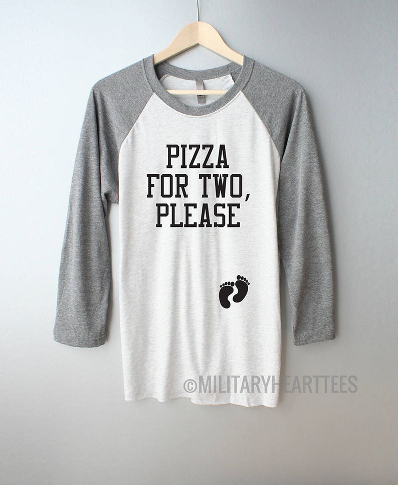 7d1b7932658 Pizza for two please maternity shirt eating for two maternity | Etsy
