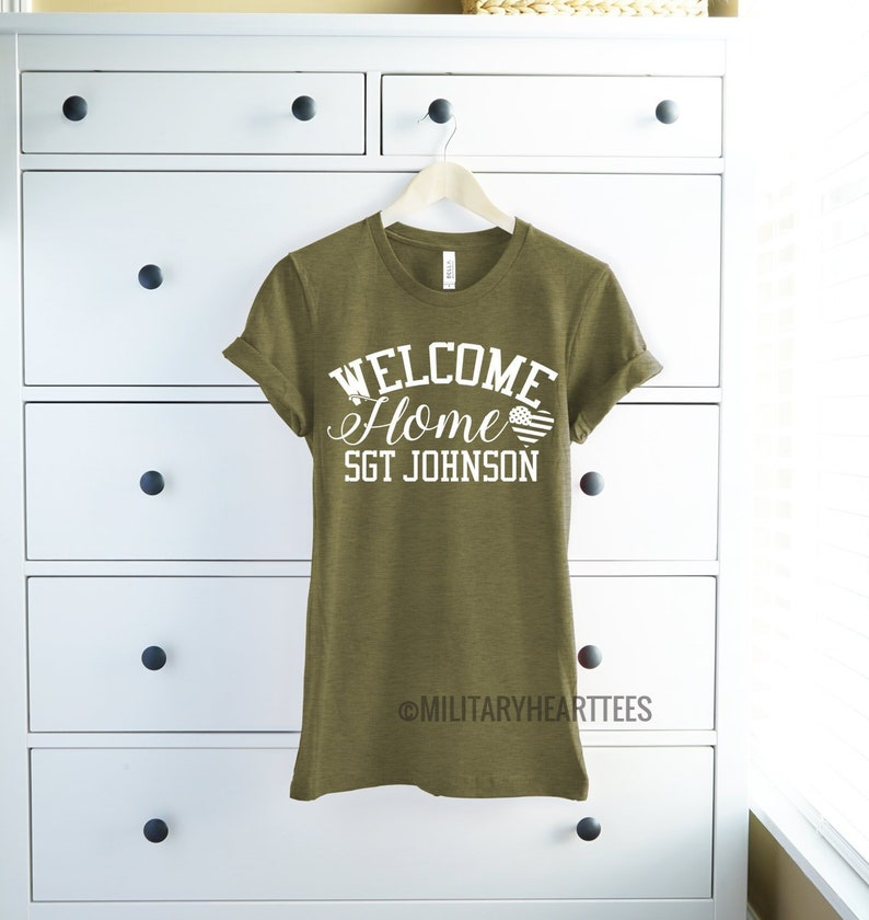 babcf7451 Military homecoming shirt custom homecoming t shirt custom | Etsy