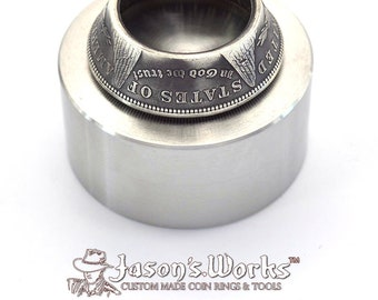 Hardened Stainless Steel Coin Ring Anvil Used to Fix Wobbly Rings