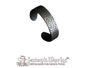 Silver Cuff Bracelet Swirlies
