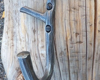 Iron Hook Forged Branch, Decorative Wall Hook