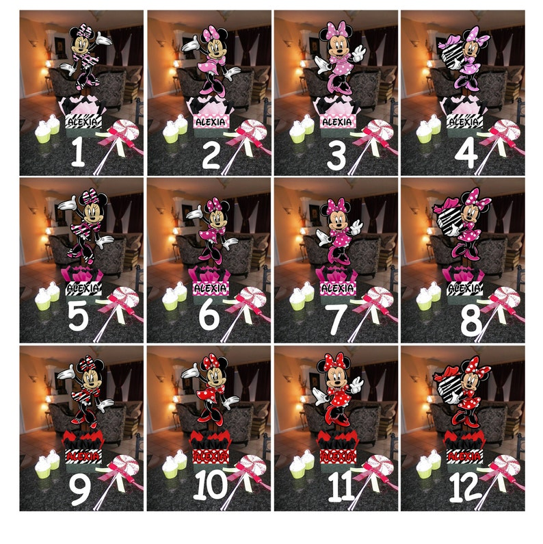 Terrific Diy 12 Small Minnie Mouse Birthday Party Centerpieces Baby Shower 1St Birthday Hot Pink Zebra Print Centerpiece Interior Design Ideas Clesiryabchikinfo