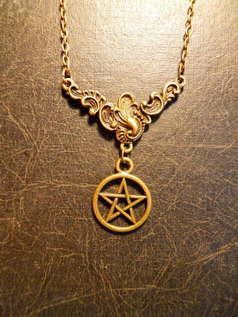 The Good Witch Pentagram White Magic Talisman Necklace