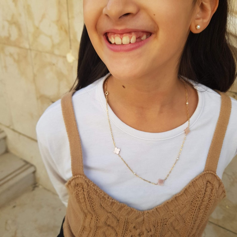 """Made to order  Sakura Necklace Mom and daughter necklace KIDS 61cm/24"""""""
