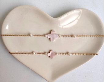 SAKURA Bracelet, Mom and daughter bracelet, Minimal jewery, Mommy and daughter jewelry, Me and mini me jewelry, Mother's day gift idea