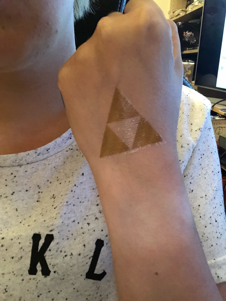 The Legend Of Zelda Triforce Tattoo Pack Of Three Etsy