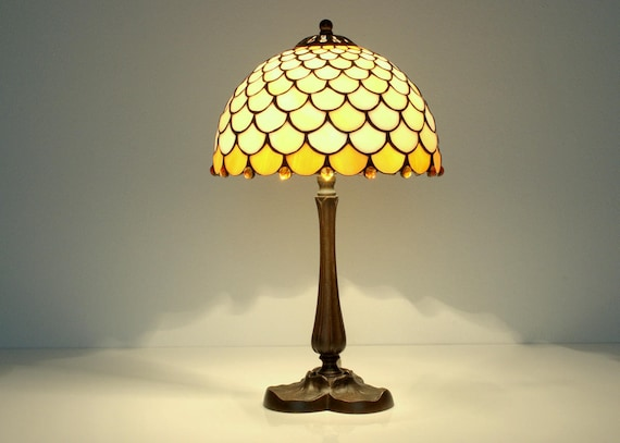 Tiffany Lamp Small Lamp Stained Glass Lamp Bedside Lamp Etsy
