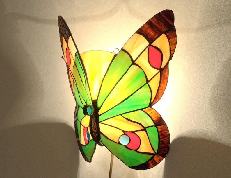 Stile tiffany lampada applique farfalla applique da etsy