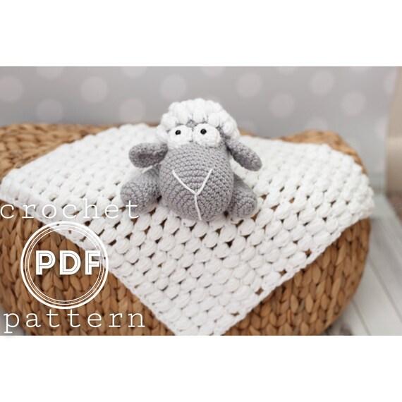 PDF Lamb Security Blanket crochet pattern lovey Sleepy the   Etsy