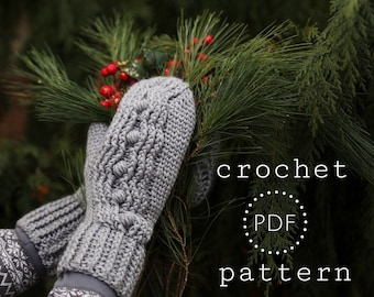 Madison Honeycomb mittens/mitts  PDF Pattern