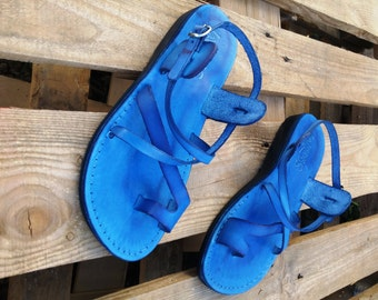 345184e5f6eb38 Brown Leather Men and Women Greek Sandals Handmade Grecian