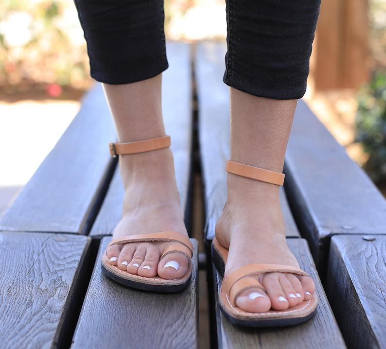 bc11611c4665 Leather Sandals OLIVE Women s Shoes Flip Flops Flats
