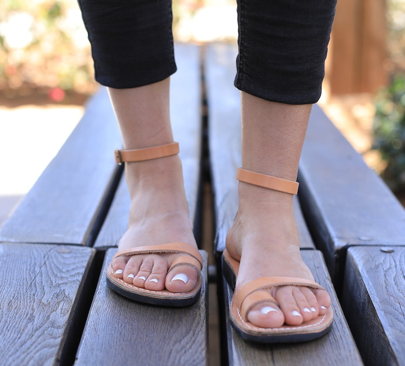 bb32fee6da14 Leather Sandals OLIVE Women s Shoes Flip Flops Flats