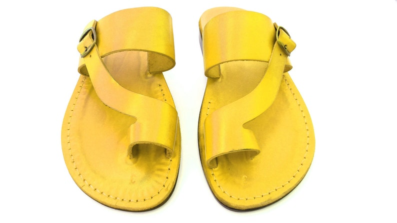 b26926c79de32 Sandals for Women Yellow Jesus Sandal Slip on Sandals